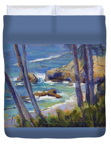 Through The Trees / Laguna Beach Duvet Cover