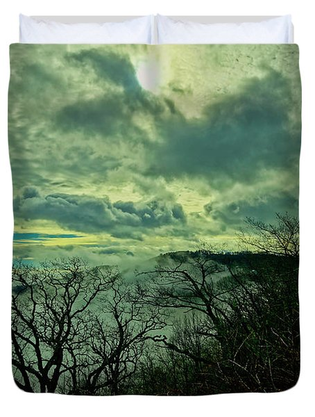 Thunder Mountain Clouds Duvet Cover