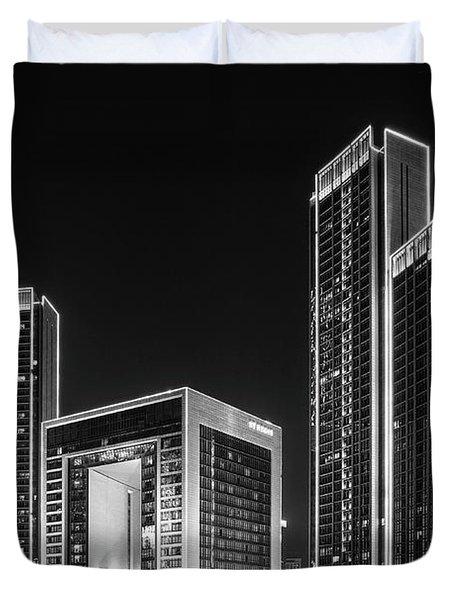 Tianjin Skyline Duvet Cover