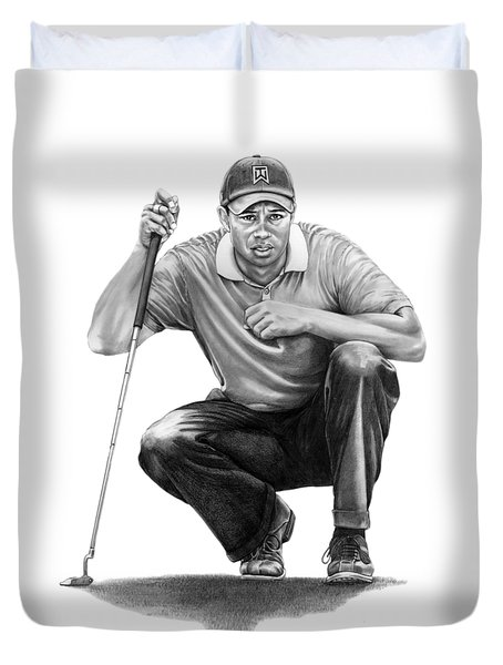 Tiger Woods Crouching Tiger Duvet Cover