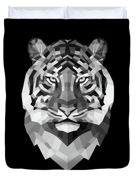 Tiger's Face Duvet Cover