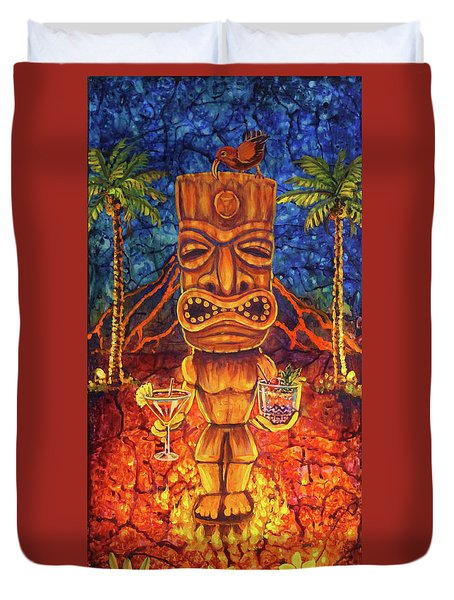Tiki Cocktail Hour Duvet Cover