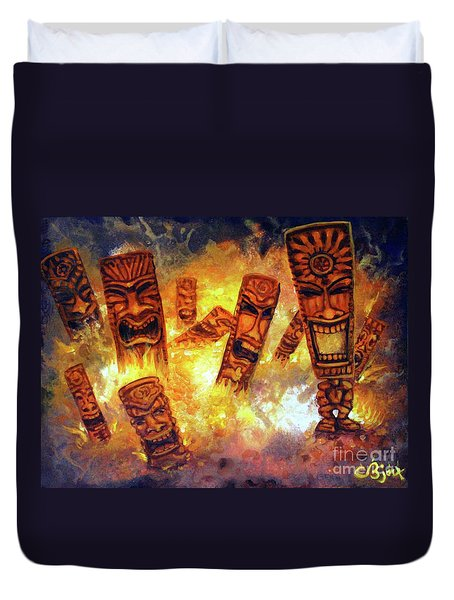 Tiki Hot Spot Duvet Cover