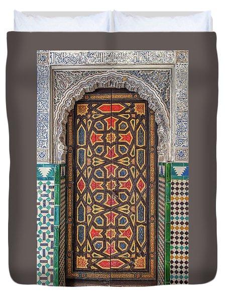 Tiled Door Of Sevilla Duvet Cover
