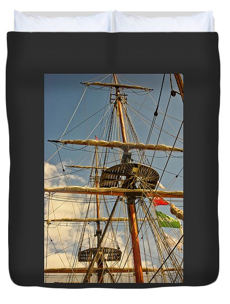 Time To Set Sail Duvet Cover