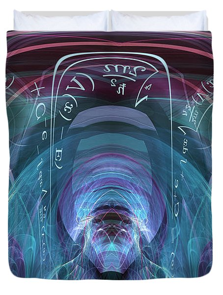 Time Traveler Duvet Cover