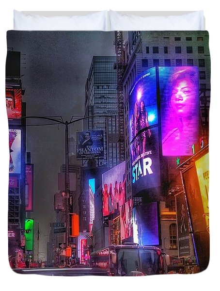 Times Square - The Light Fantastic 2016 Duvet Cover