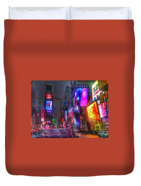 Times Square - The Light Fantastic 2016 Duvet Cover