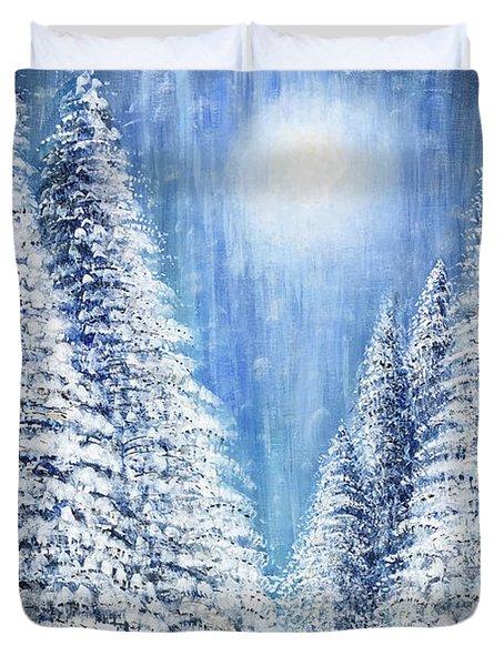 Tim's Winter Forest 2 Duvet Cover