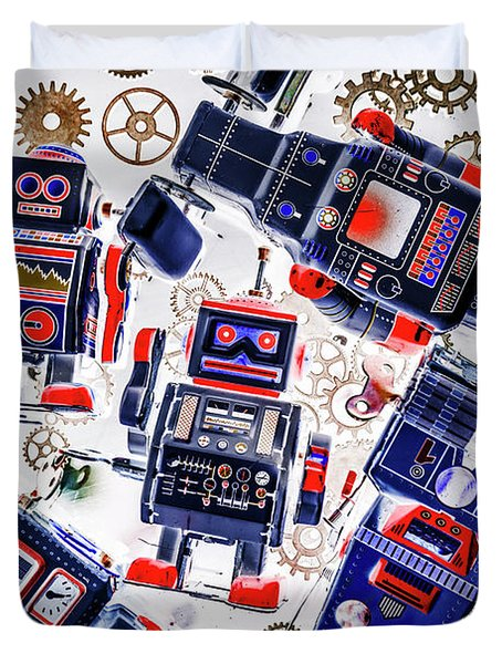 Tin Toy Factory Duvet Cover