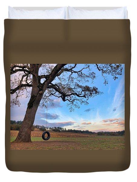 Tire Swing Tree Duvet Cover