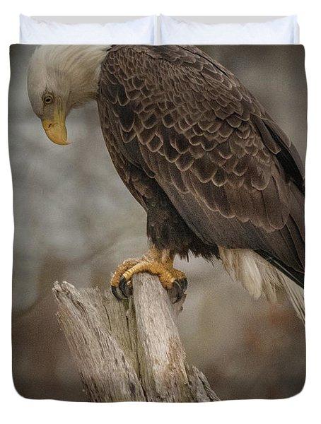 Tired Eagle Dad  Duvet Cover