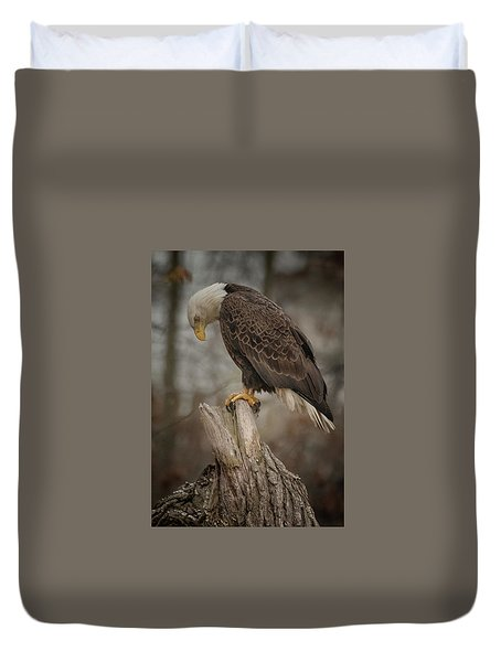 Tired Eagle Dad  Duvet Cover