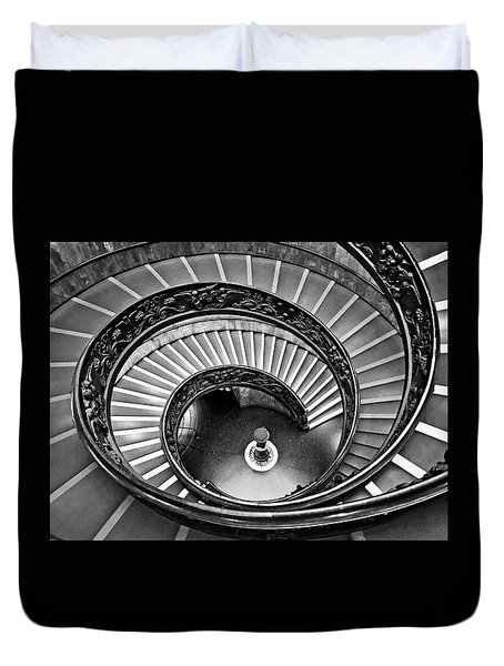 To Infinity Bw Duvet Cover