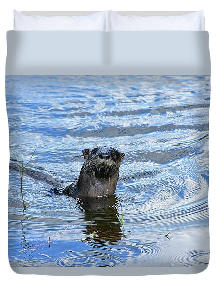 To My Otter Amazement Duvet Cover