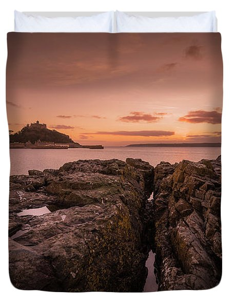 To The Sunset - Marazion Cornwall Duvet Cover