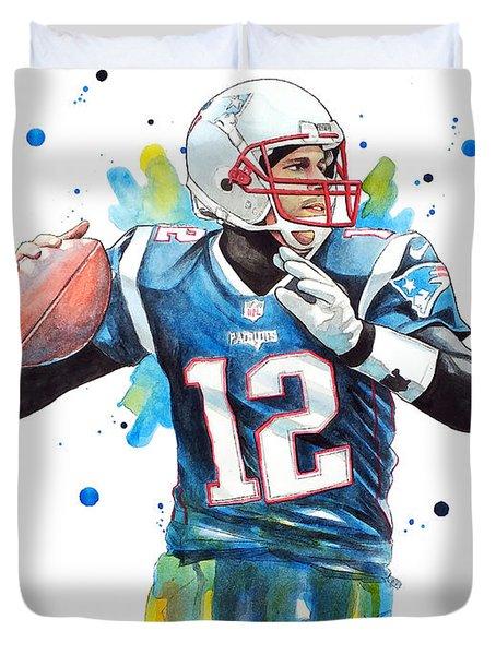 Tom Brady, Patriots, Nfl Duvet Cover