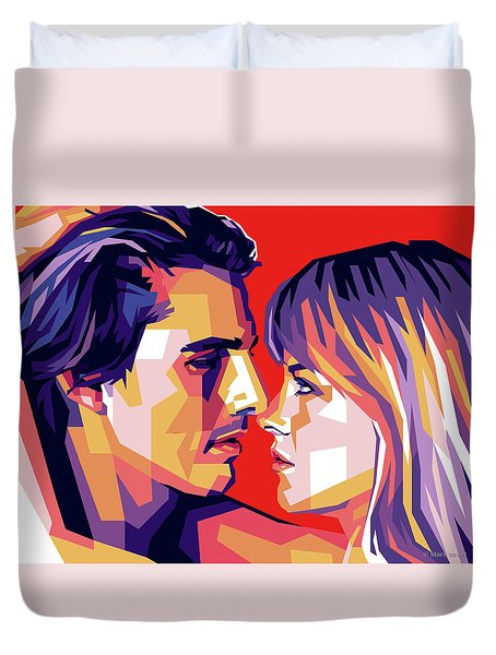 Tom Cruise And Nicole Kidman Duvet Cover
