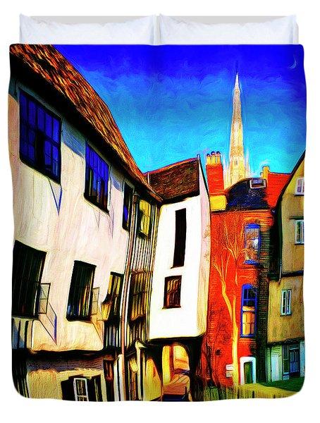 Tombeland Alley Duvet Cover