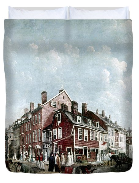 Tontine Coffee House, 1797 Duvet Cover