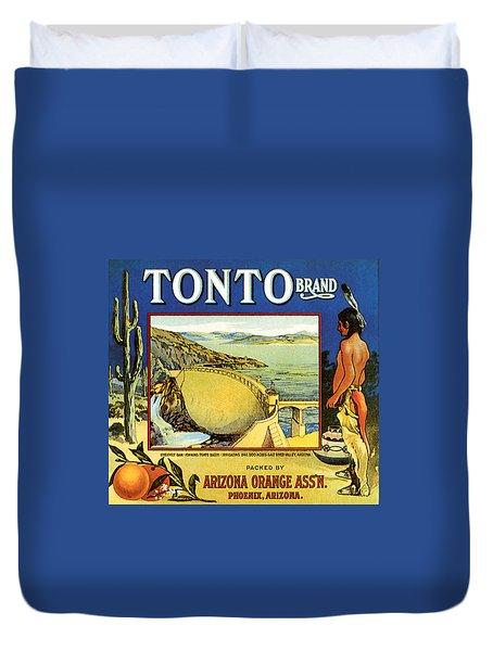 Tonto Arizona Oranges 1926 Duvet Cover