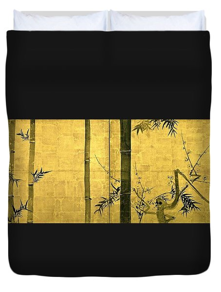 Top Quality Art - Bamboo And Plum Tree Duvet Cover