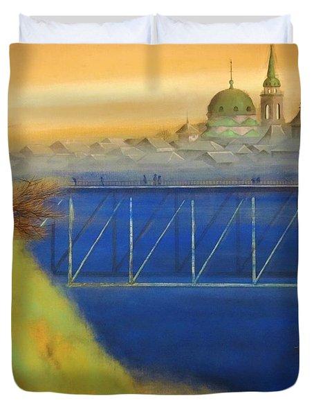 Top Quality Art - Ochanomizu Bridge Sunset Duvet Cover