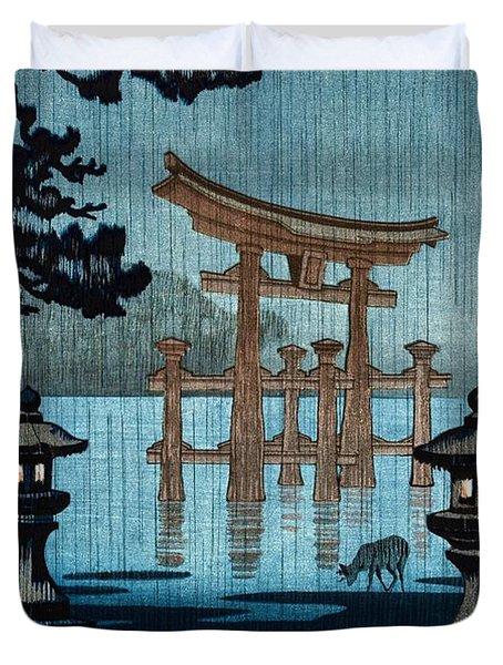 Top Quality Art - Rainy Miyajima Duvet Cover