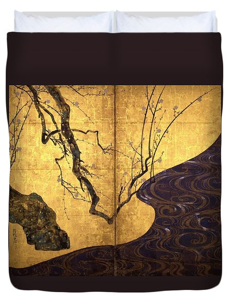 Top Quality Art - Red And White Plum Blossoms #1 Duvet Cover