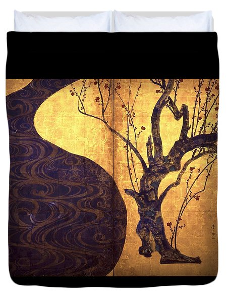 Top Quality Art - Red And White Plum Blossoms #2 Duvet Cover