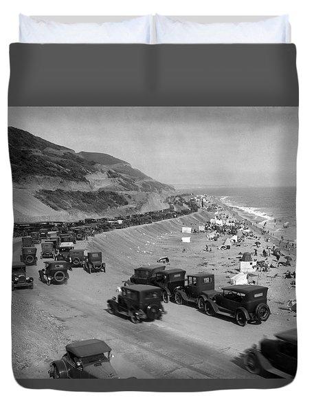 Topanga State Beach 1920 Duvet Cover