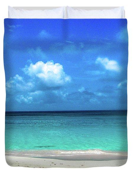 Topical Beach View Anguilla Duvet Cover