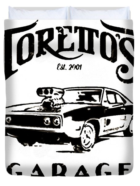 Toretto's Garage Duvet Cover