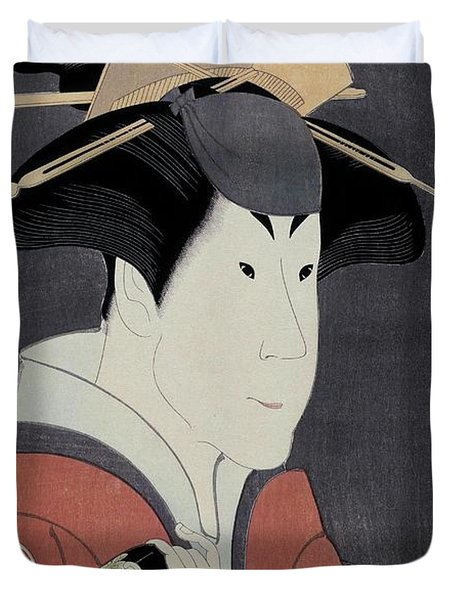 Toshusai Sharaku -copy-, Tsutaya Juzaburo / 'the Actor Segawa Tomisaburo II', 1794, Japanese School. Duvet Cover