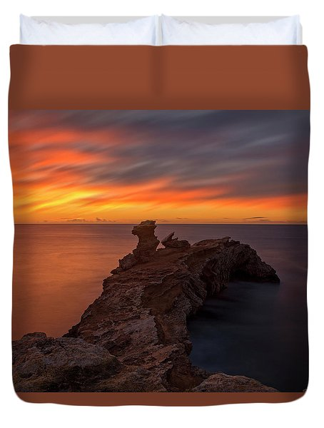 Total Calm At A Sunrise In Ibiza Duvet Cover