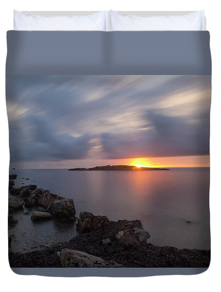 Total Calm In An Ibiza Sunrise Duvet Cover