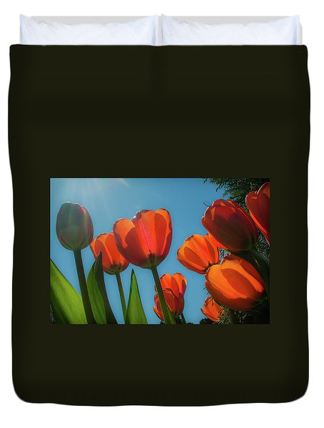 Towering Tulips Duvet Cover