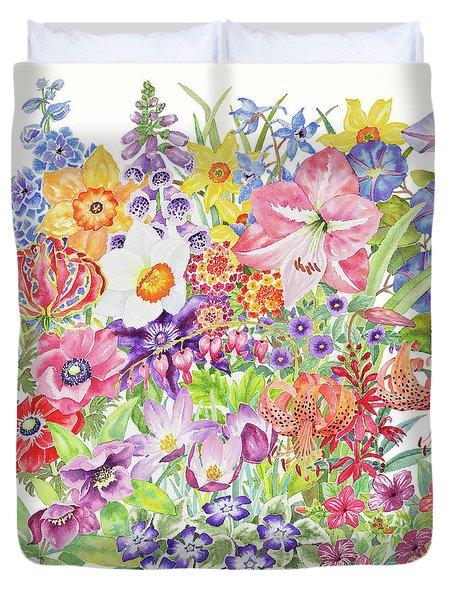 Toxic Tango Iv Fateful Flowers Duvet Cover