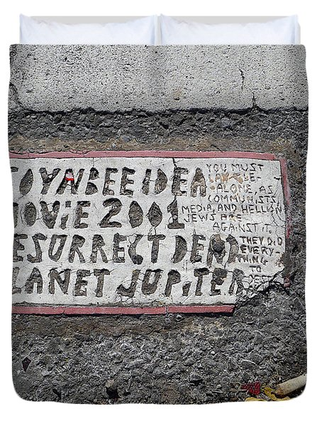 Toynbee Tile Nyc Duvet Cover
