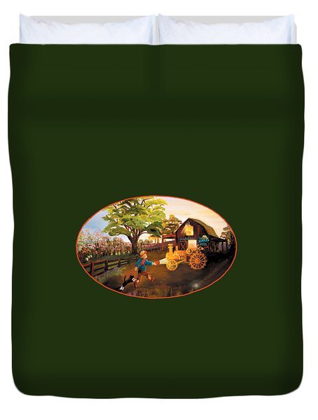 Tractor And Barn Duvet Cover