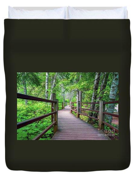 Trail At Gooseberry Falls Duvet Cover