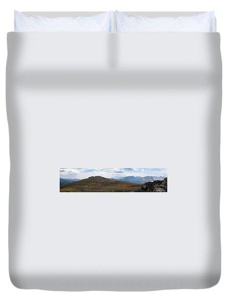 Trail Ridge Road Arctic Panorama Duvet Cover