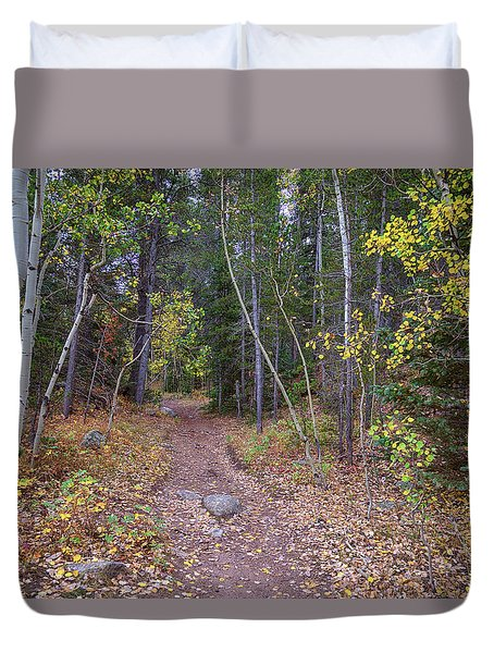 Duvet Cover featuring the photograph Trailhead by James BO Insogna