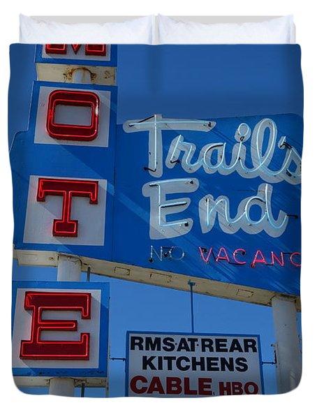 Trail's End Motel Duvet Cover