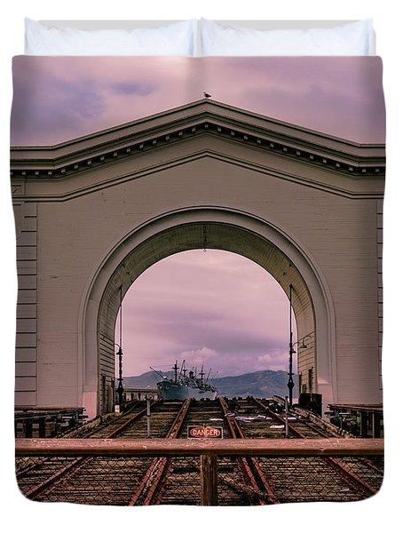 Train To Nowhere Duvet Cover