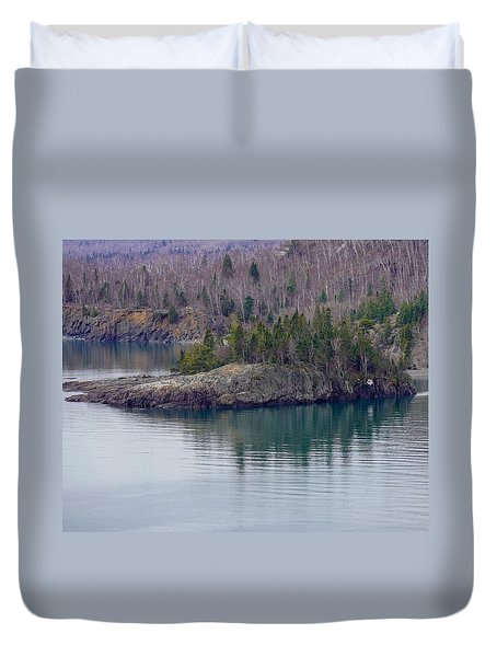 Tranquility In Silver Bay Duvet Cover