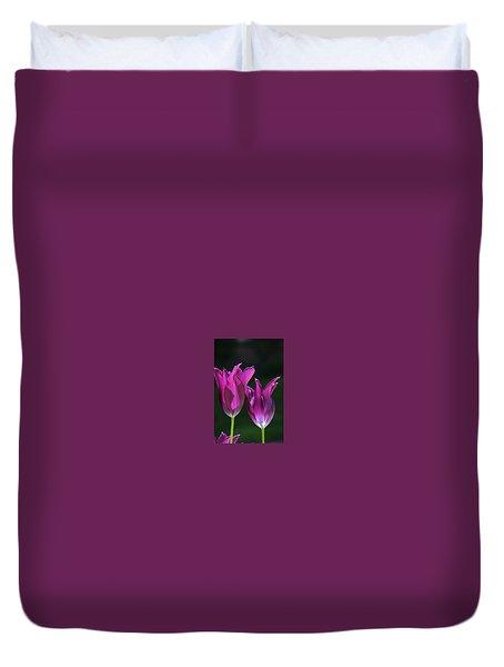 Translucent Tulips Duvet Cover