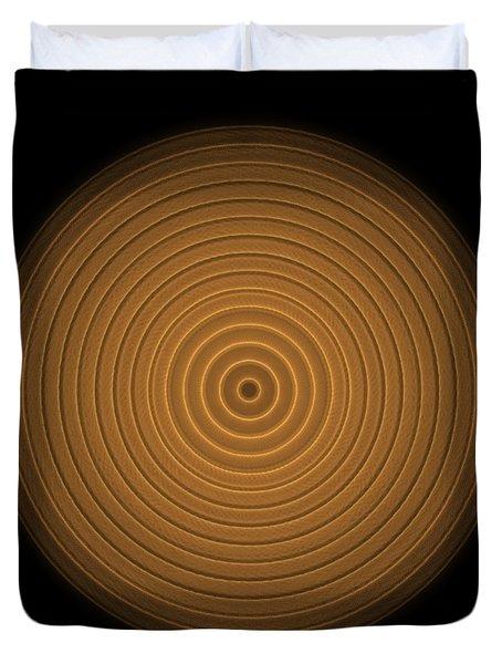Transparent Intricate Complex Target Spiral Fractal Duvet Cover