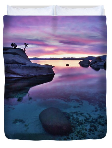 Transparent Sunset Duvet Cover