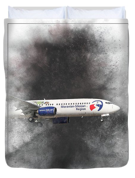 Travel Service Boeing 737-8cx Painting Duvet Cover